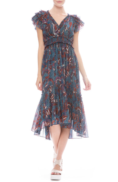 Ulla Johnson Cicely Midi Dress in Azul