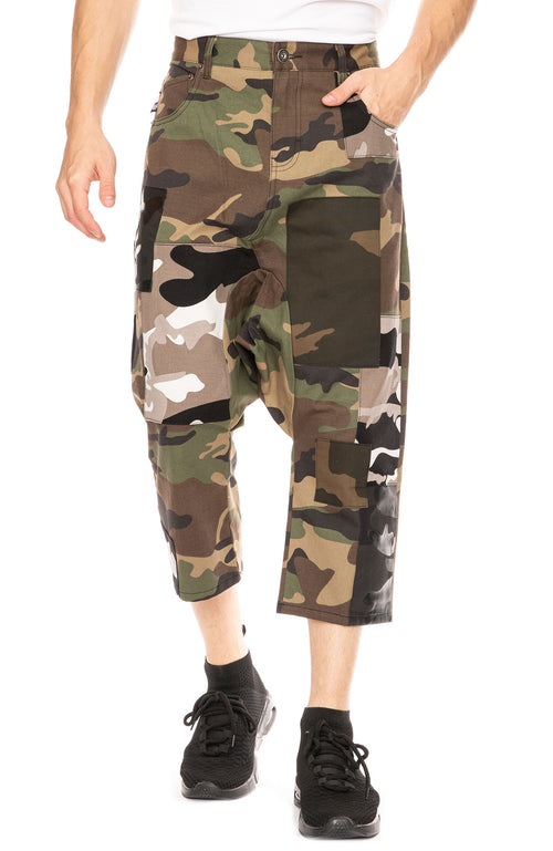 Mostly Heard Rarely Seen Pusher Camo Pants with Patches at Ron Herman