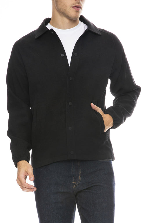 Ziran Mens Los Angeles Coaches Jacket in Black