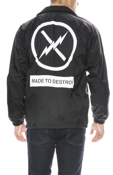 Fact. Box Logo Made to Destroy Coach Jacket in Black