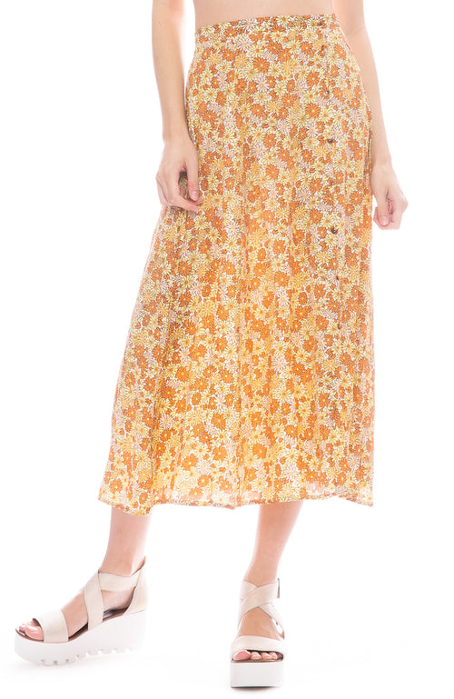 Faithfull The Brand Peach Midi Skirt