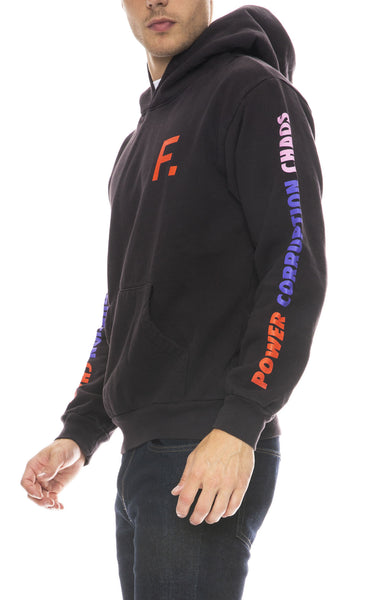 Fact Mens Color Bar Hoodie in Black
