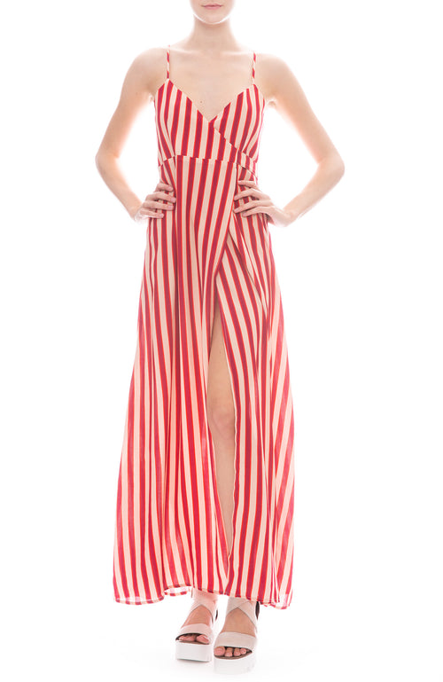 Flynn Skye Anderson Wrap Front Maxi Dress in Ruby Slipper