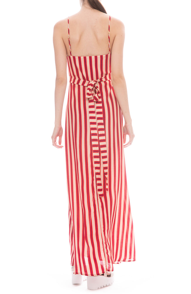 Flynn Skye Anderson Ruby Slipper Striped Wrap Front Maxi Dress