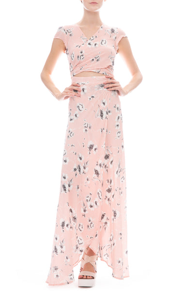 Flynn Skye All Wrapped Up Maxi Dress in Evening Bouquet