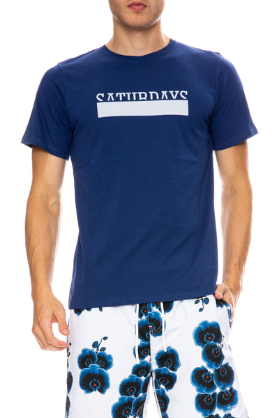 Saturdays Surf NYC Saturdays Bar Overlap T-Shirt