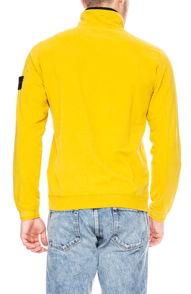 Stone Island Quarter Zip Pullover Sweatshirt in Mustard at Ron Herman