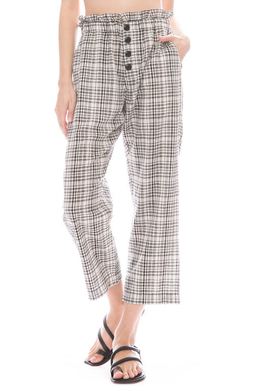 The Great Gunny Sack Paperbag Waist Trousers in Patchwork Plaid