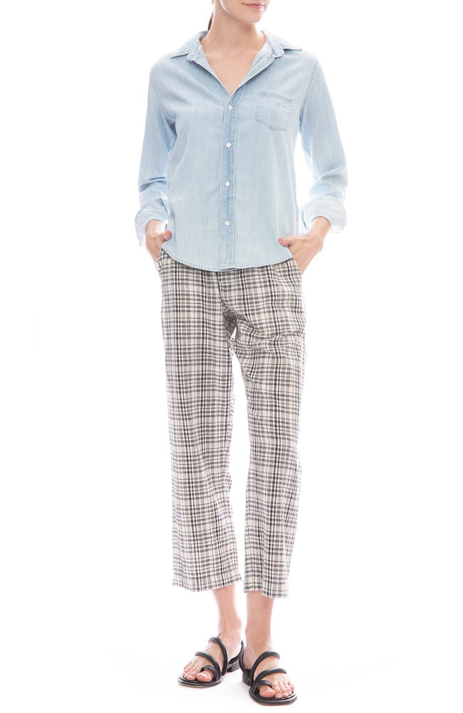 The Gunny Sack Plaid Paperbag Waist Trousers