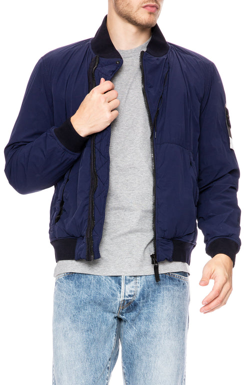 Stone Island Comfort Tech Composite Bomber Jacket in Ink Blue at Ron Herman