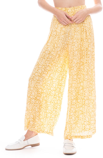 Faithfull The Brand Opal Wide Leg Pant in Natural Snake