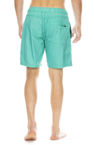 Saturdays NYC Trent All-Purpose Grid Swim Shorts in Seafoam Green