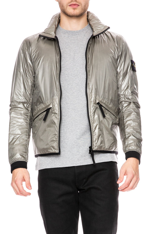 Stone Island Pertex Quantum Y Jacket with Primaloft Insulation in Dove Gray at Ron Herman