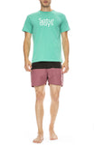 Saturdays Surf NYC Saturdays T-Shirt in Seafoam Green with Ennis Boarshorts