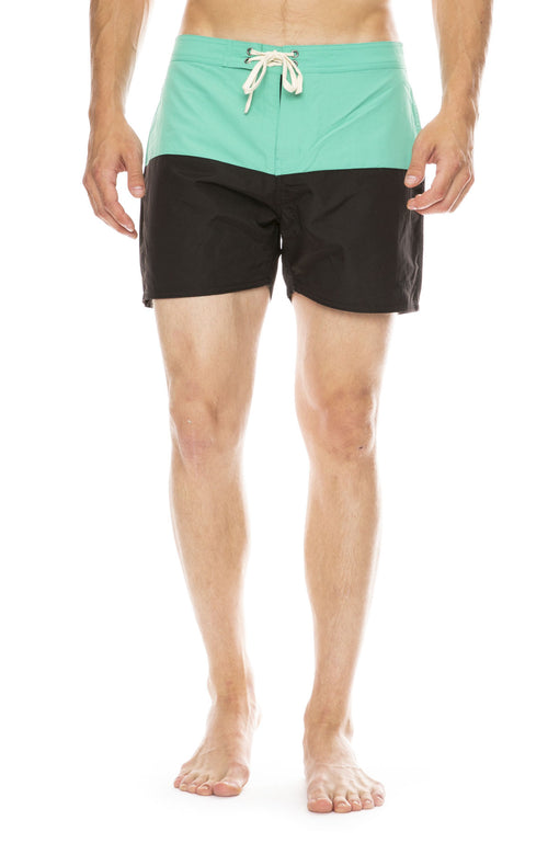 Saturdays Surf NYC Ennis Boardshort in Seafoam Green / Black
