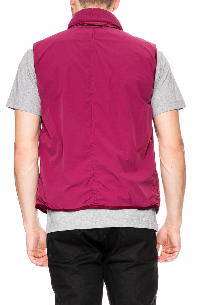 Stone Island Comfort Tech Composite Vest in Garnet at Ron Herman
