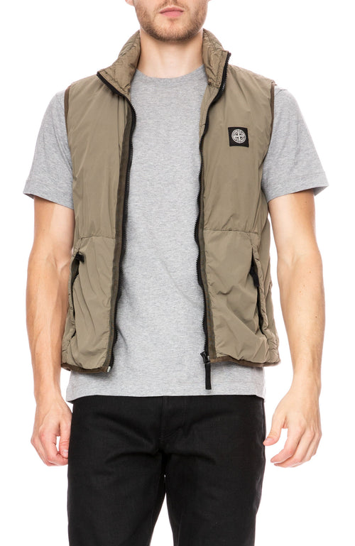 Stone Island Comfort Tech Composite Vest in Olive at Ron Herman