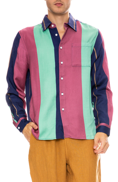 Saturdays Surf NYC Perry Napoleon Shirt in Multi Stripe