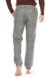 ATM Mens Double Faced Knit Sweatpants in Black/Chalk