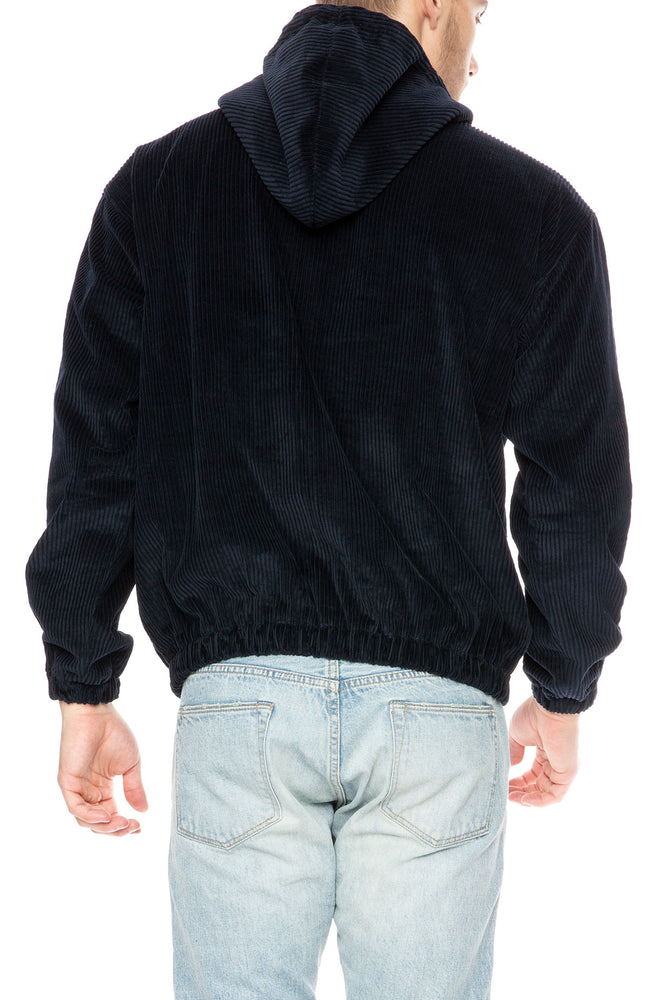 Freshjive Cornado Corduroy Anorak Pullover in Navy at Ron Herman