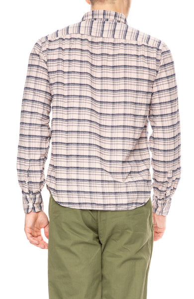 Save Khaki Plaid Flannel Work Shirt in Tea at Ron Herman