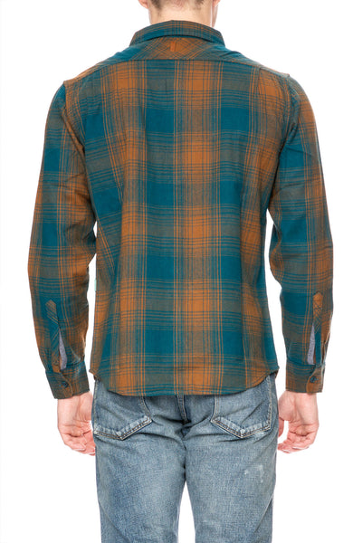 Vissla Cape May Flannel Shirt in Dark Teal at Ron Herman