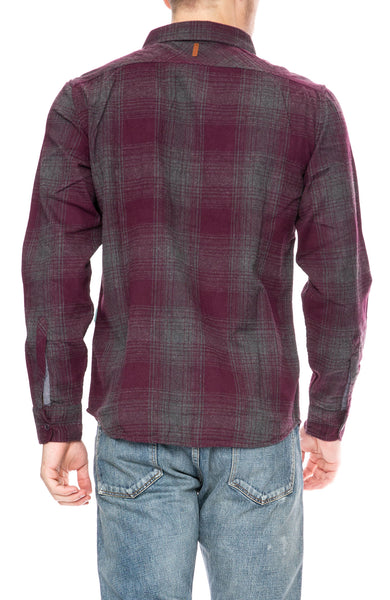 Vissla Cape May Flannel Shirt in Burgundy at Ron Herman