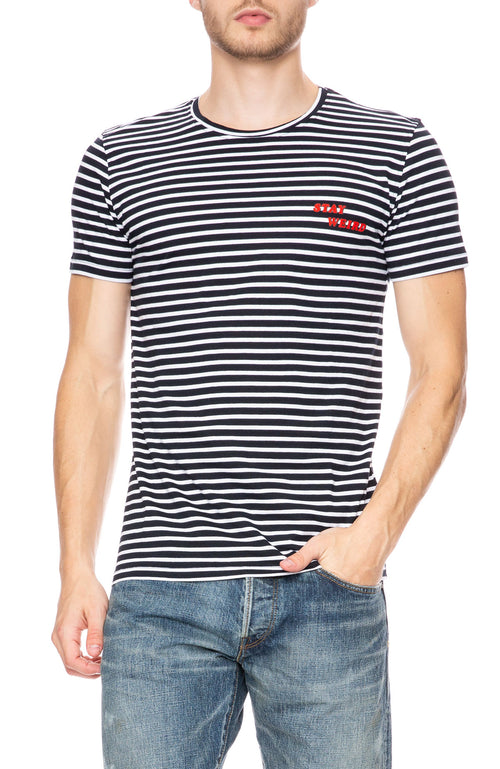 The Goodpeople Stay Weird Stripe T-Shirt at Ron Herman