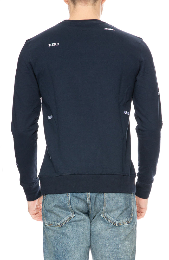 The Goodpeople Hero Embroidered Sweatshirt in Navy at Ron Herman