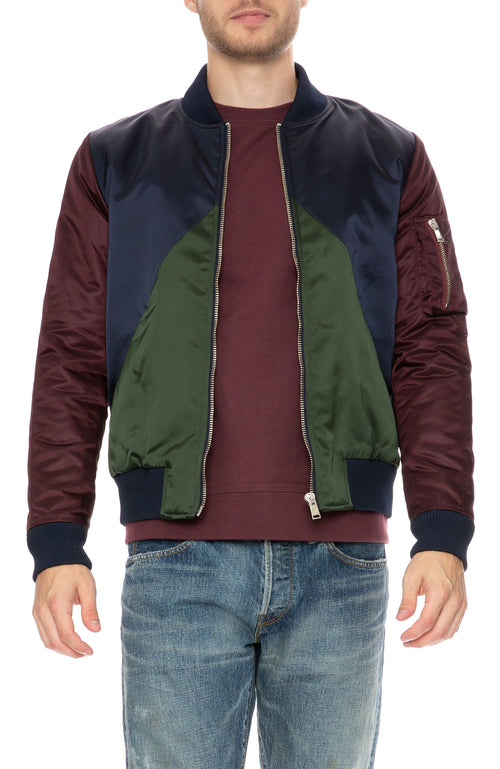 The Goodpeople Bombilicious Colorblock Bomber Jacket at Ron Herman