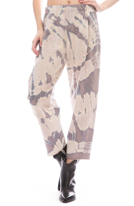 Tie Dye Sweatpants with Silk Pocket