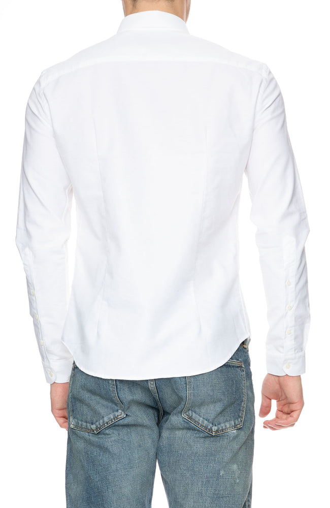 The Goodpeople Stay Weird White Oxford Shirt at Ron Herman