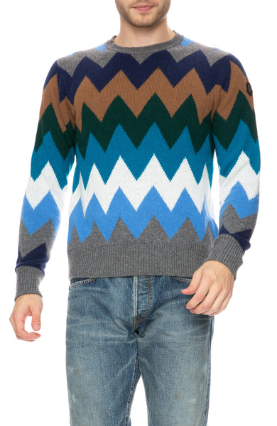 Moncler Zig-Zag Multi Colored Sweater at Ron Herman