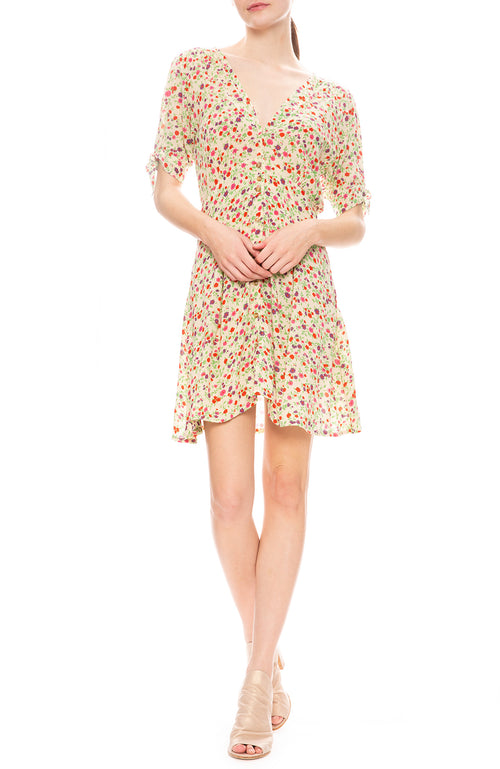 Faithfull the Brand Marianne Mini Dress in Bastille Floral Print
