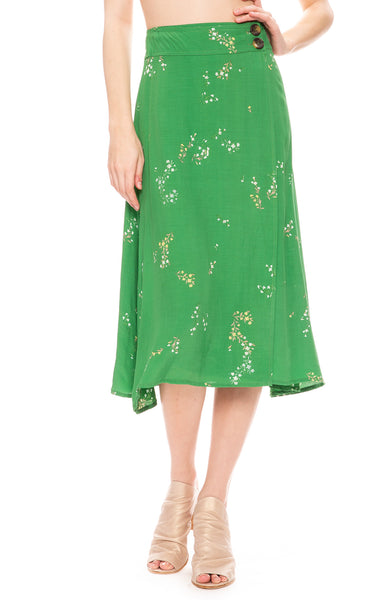 Faithfull the Brand Valois Midi Skirt in Myrtille Floral Print