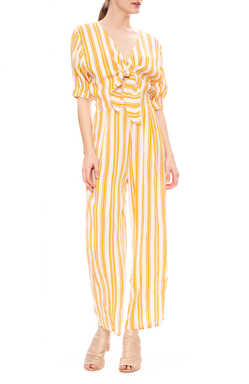 Faithfull the Brand Matese Jumpsuit in Azure Stripe Print