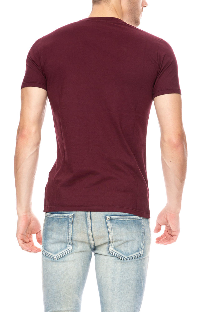 Denham Crew Neck Short Sleeve T-Shirt in Merlot at Ron Herman