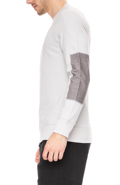 Denham Endeavor Sweatshirt with Sleeve Detail at Ron Herman