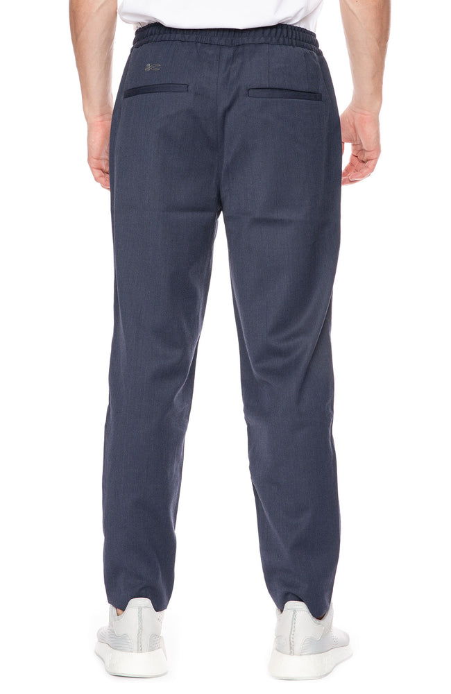 Denham Carlton Drawstring Waist Pants in Dark Navy at Ron Herman