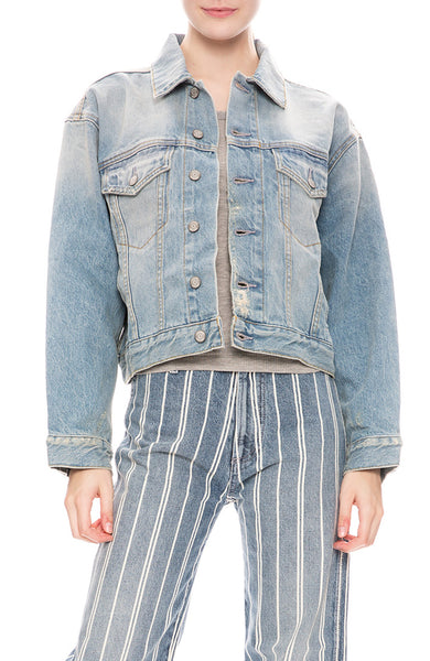Boyish Womens Harvey Denim Jacket in Napoleon Wash