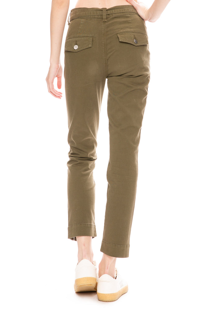 J Brand Womens Kyrah High Rise Pants in Dystopia Green