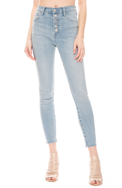 J Brand Womens Lillie High Rise Cropped Skinny Jean in Verity Light Wash
