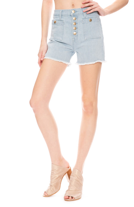 Joan High-Rise Pocket Short In Elaras