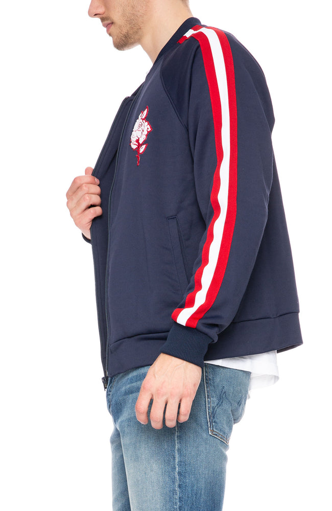 Mother Mens Runner Letterman Stripe Track Jacket at Ron Herman