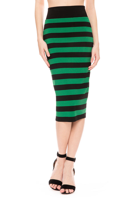 Baker Stripe Skirt
