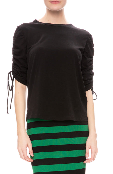 Natalia Ruched Sleeve Top