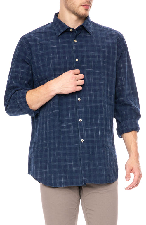 Today Is Beautiful / Ron Herman Exclusive Navy Shadow Print Shirt