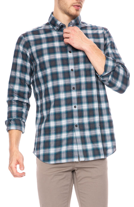 Exclusive Shadow Plaid Shirt