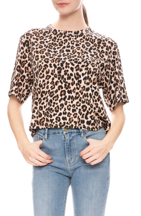Abbey Leopard Print T-Shirt
