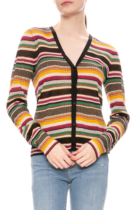 Keke Multicolor Striped Cardigan